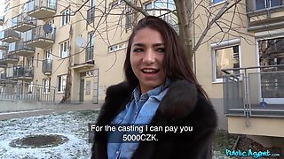 Kandy Kors & Martin Gun in Tiny Russian Takes Cock For Cash - PublicAgent
