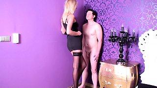 Sadistic Glamour Girls spitting slaves