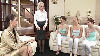 Hot lesbian orgy with insatiable chicks Kate Gold and Victoria Puppy