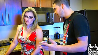 Creepy Stepson Blackmails Stepmom Cory Chase Into Sex