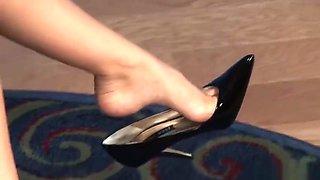 Jaime Hammer dangles her sexy heels