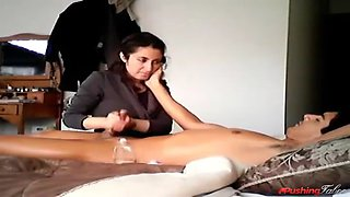 Massage turns naughty mom and son