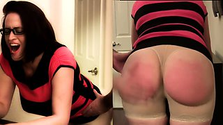 Bodacious milf gets her marvelous ass spanked hard on webcam