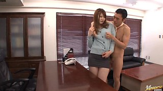 Naughty Boss Having Fun with His Sexy and Busty Japanese Secretary