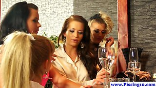 Euro whores enjoy pissing and group sex