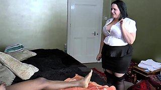 AgedLovE Busty Hotel Maid Lacey Starr Threesome