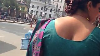 big ass sexy nepali aunty ass walk in saree