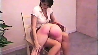 Blonde girl spanked otk