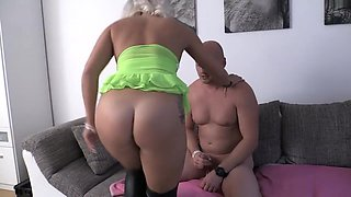 Perfect Blonde in Knee High Boots Gets Nailed
