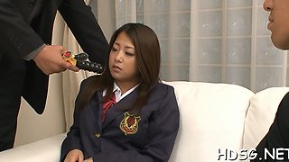 Hot Asian schoolgirl gets punished for her bad grades