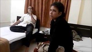 Indian wife pleasing her hubby boss