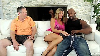Black guy fucking the wife and husband watch