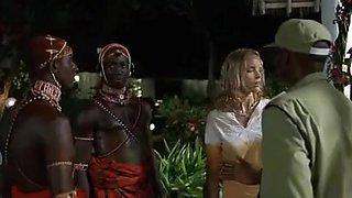 White beauty and African Masai warrior(Nina Hoss)