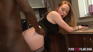 BBC fucks and licks pussy of seductive red haired chick Ruby Temptations
