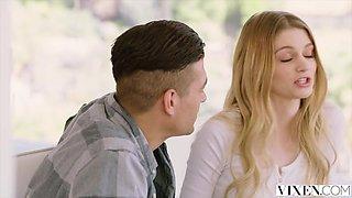 VIXEN Hot Blonde Teen Gets Caught Cheating On Tape