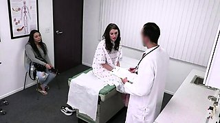 Petite Teen Drilled by Doctor to Pay Off the Huge Bill