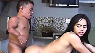 Horny Midget Shagging Asian Babe