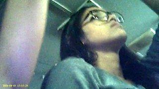 Candid voyeur of latino woman&#039s armpit on bus 4