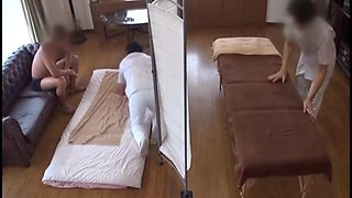 Husband Watches Japanese Wife Get a Naughty Massage - 1