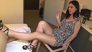 Goddess Chanel presents Mistress BLACK DIAMOOND in High heel