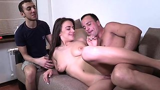 Curvaceous russian woman Carly gets her box checked up