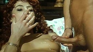 Sizzling hot white redhead loves rough anal sex in doggy style position