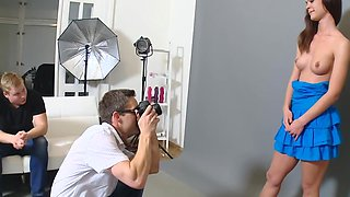 Petite teen girl gets used by her photographer