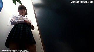 School Student Girl Massage Change Room