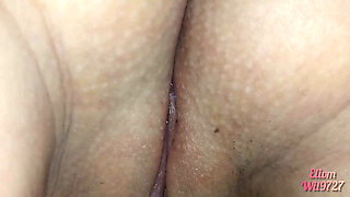 Close-up of my DESI HINDI stepsister's pussy