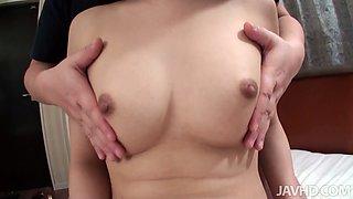 Oriental slut Yuu Sakura cock sucking and toy insertion