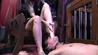 Aggressive Foot Gagging by cybill troy