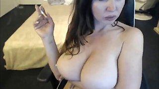 Amateur big boobs milf smoking