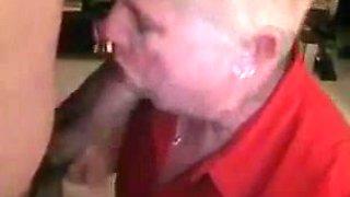 Fat Granny Sucking A Big Black Cock