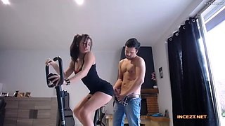 Real brother and sister fuck hidden cam