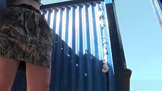 Girl in leopard bikini