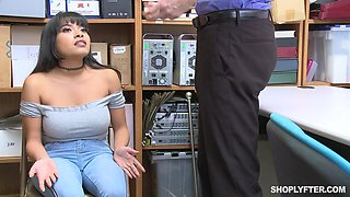 Latina bombshell Aryana Amatista forced to fuck and gets cum on tits