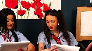 British cfnm art students watch teacher