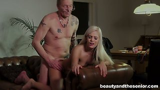 Young blonde Candee Licious is ready to do everything for her rich old lover