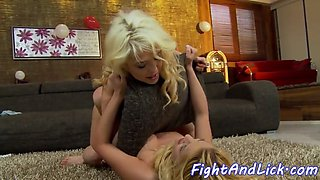 alluring euro licked after wrestling