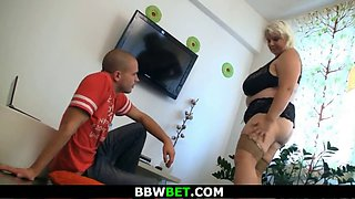 He calls huge boobs blonde for play