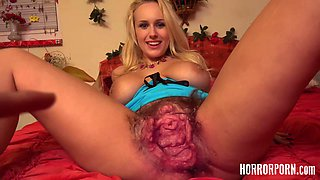 Blonde MILF With Pussy Monster Which You Have Never Seen