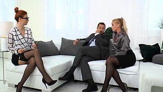 Nobili and her husband teaching her secretary