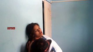 Horny Indian guy making out with his girlfriend on webcam