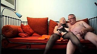 Kinky blonde granny with big boobs takes a dick for a ride