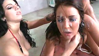 Teen Whore Gets Tied Up, Abused and Covered With Cum!