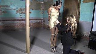 ebony woman tied up