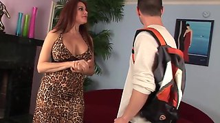 Sexy cougar fucks new junior assistant