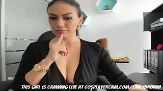 secretary going crazy at the office