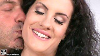 Slender office slut Leanna Sweet gets drilled by her horny boss