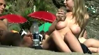 Nudists Beach Ideal Voyeur View On Aged Snatch